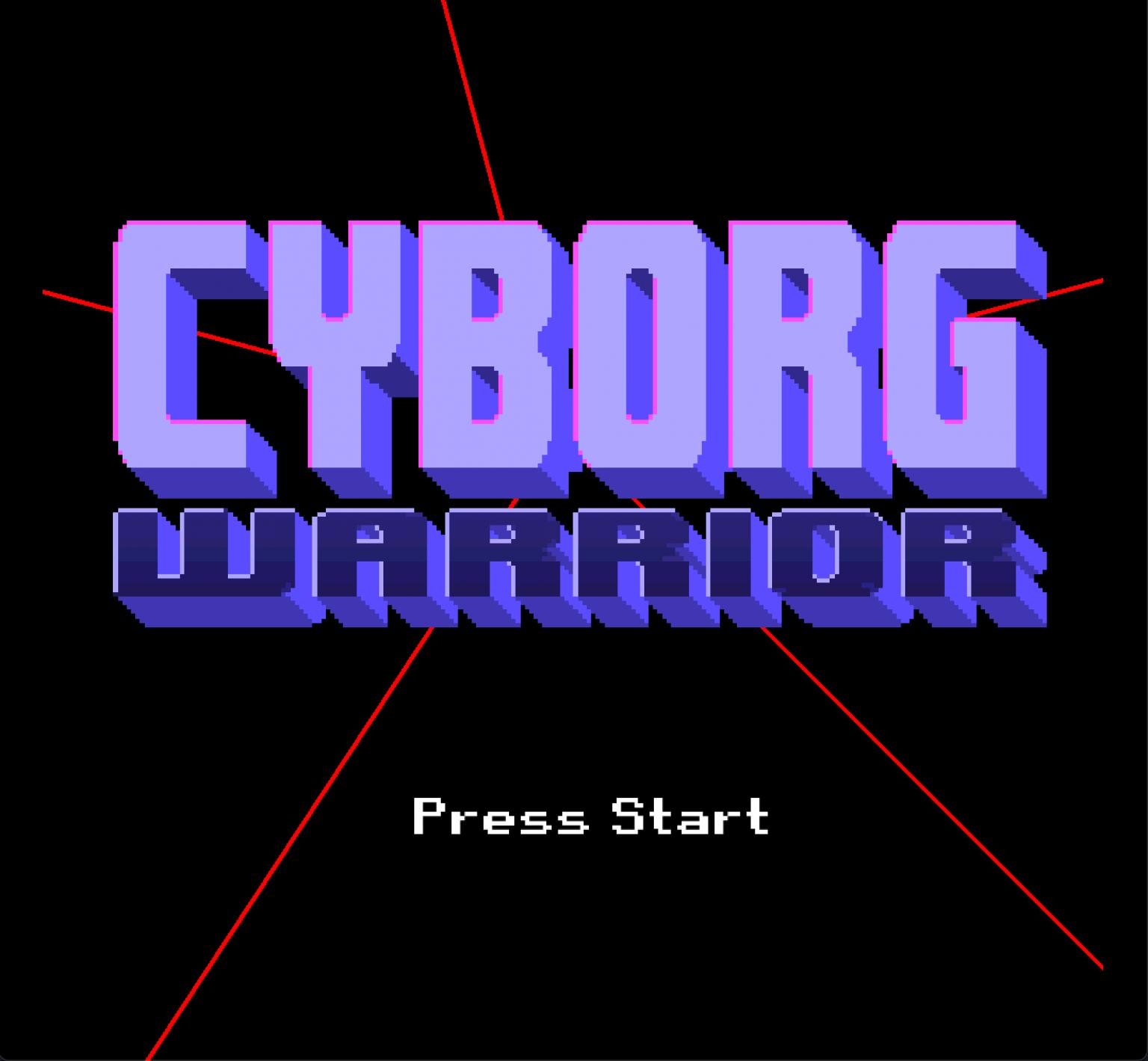 Cyborg Warrior title screen